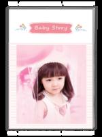Baby Story(记录宝贝成长的点滴)-A4杂志册(42P)