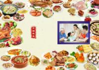 中国味道(样片、文字可替换)全家福、商务、美食、聚会、旅行等-(微商)笔记本