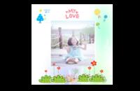 我的爱 萌宝 亲子写真集 图文可替换-8x8印刷单面水晶照片书21P