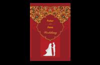 梦幻婚礼照片书(喜庆红系列)-封面字体可自行修改-8x12单面水晶照片书21p(微信)