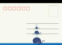 小鲸鱼-等边留白明信片(横款)套装