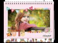 可爱宝贝卡通温馨亲子全家福台历-8寸单面印刷台历