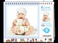 最幸福的baby4-可爱萌萌的(相片可替换)-8寸单面印刷台历