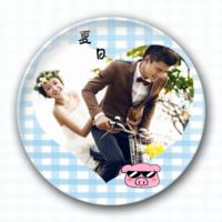夏日-创意镜子钥匙扣