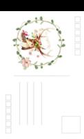 文艺清新插画-麋鹿-全景明信片(竖款)套装
