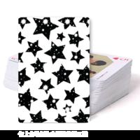 星星图案 星星会发光 个性扑克牌  正面可填加照片-双面定制扑克牌