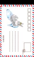 美味的兔子-卡通插画亲子宝宝旅行生日纪念の西西呆-全景明信片(竖款)套装