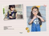 【快乐时光,快乐童年-记录宝宝每一天】(图文可换)小清新,可爱,文艺-A3硬壳蝴蝶装照片书32p
