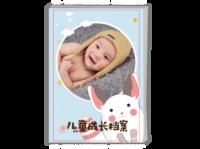 卡通小飞鼠-儿童成长录#-A4时尚杂志册(26p)