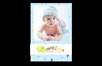 童年脚印一串串,留下可爱的足迹,亲爱的宝贝、宝贝,亲子,全家福-8x12印刷单面水晶照片书21p