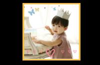优雅天使宝贝成长纪念册 图文可换-8x8印刷单面水晶照片书21P