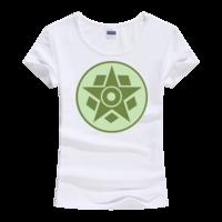 麦田圈图案之五边形与五角星女款莫代尔T恤