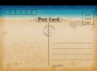 浪漫海边蓝色大海时尚(通用版)948-818-全景明信片(横款)套装
