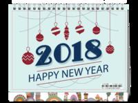 卡通动物2018新年-8寸单面印刷台历