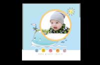 宝贝成长记-儿童成长记录-男宝女宝通用-可爱-小天使-适合5岁以下儿童-8x8印刷单面水晶照片书21P