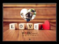 爱的憧憬-致我们的浪漫爱情故事-爱你一辈子-A3横款挂历