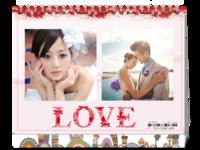 LOVE-爱情婚庆婚礼婚纱-8寸单面印刷台历