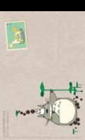 可爱龙猫、木马邮票-复古风-全景明信片(竖款)套装