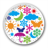 绚丽彩色圆形气候-7.5个性徽章