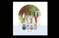 幸福一家人-亲子 全家福-8x8印刷单面水晶照片书21P