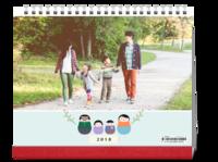 幸福一家人-亲子 全家福-10寸双面印刷台历