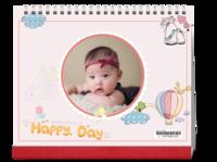 手绘-快乐每一天#-10寸单面印刷台历