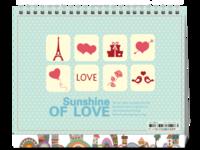 sunshine of love-8寸双面印刷台历