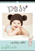 可爱兔兔宝贝 my baby rabbit 月月精彩 童年-A3双月挂历