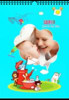 精彩瞬间—儿童快乐成长纪念-宝贝喜爱的卡通小动物-A4挂历