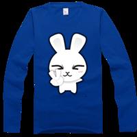 微信纯棉男高档意思T恤-高档彩色表情情侣T恤微信里彩色图圆领什么代表图片