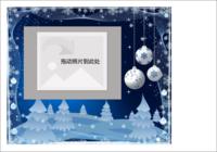 蓝色恋曲-彩边拍立得横款(6张P)