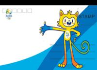 奥运1-全景明信片(横款)套装