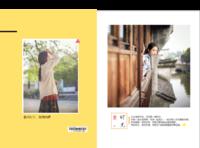 【爱时光--我的写真集,记录美好年华】(图文可换)小清新,文艺风-硬壳精装照片书30p