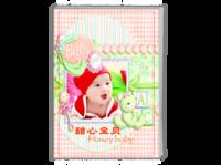 甜心宝贝-满月-百日-周岁-生日-亲子宝贝成长纪念册-A4时尚杂志册(26p)