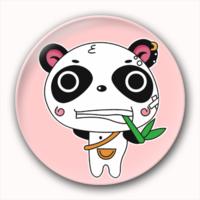 逃课的小熊猫吃竹子-3.2个性徽章