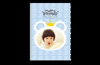 生日快乐 happy birthday 皇冠 韩式韩版生日精致内页儿童童年记忆102503