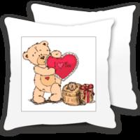 可爱小熊爱心手绘我爱你-情侣抱枕