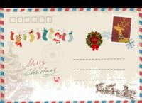 圣诞节快乐-全景明信片(横款)套装