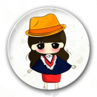草帽小希妹妹-卡通小人钥匙扣