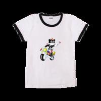 黑猫警长-时尚童装撞色T恤