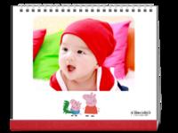 小猪佩奇 粉红猪小妹 宝宝最爱样片可换 图文可改-10寸照片台历