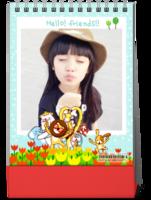 童趣-快乐的小伙伴(封面照片可替换)-8寸竖款单面台历