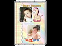快乐宝贝开心成长记录册 可爱小马  宝宝珍贵记忆(封皮图片可换)-A4时尚杂志册(24p)