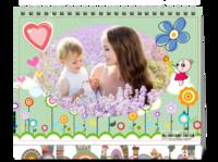 快乐宝贝 童年 亲子 妈妈的爱-8寸双面印刷台历(微信)