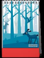 唯美 浪漫 小鹿 森林  内页精心设计 图文可替换-8寸竖款单面台历