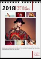 NEW FASION 新时尚(个人写真桌面台历) 高档原创欧美经典精品自由DIY-A4挂历