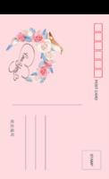 浪漫爱情LOVE YOU 爱情鸟 玫瑰 多彩底色-全景明信片(竖款)套装