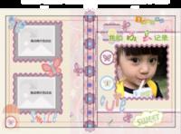 成长记录 剪贴风格 宝宝儿童可爱风格 封面照片可换-硬壳精装照片书