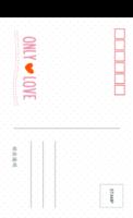 爱的唯一 ONLY LOVE 最爱的你 清新(通用)-18张等边留白明信片(竖款)