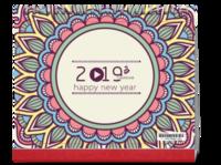 复式花纹新年台历#-10寸单面印刷台历